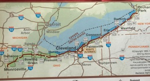 Monroeville, IN to Orchard Park, NY = 408.5 miles